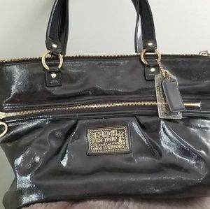 Handbags - Authentic Coach Patent Leather Poppy Tote Purse